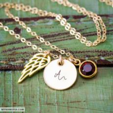Write Initial Name Alphabet On Necklace
