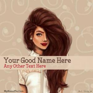 Awesome Hair Girl With Name