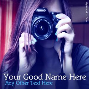 Camera Girl With Name
