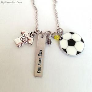 Personalized Football Neckalce With Name
