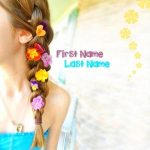 Beautiful Flowers Girl With Name