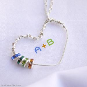 Beautiful Heart Necklace With Name