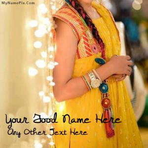 Beautiful Party Dress With Name