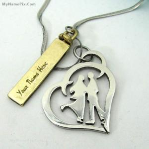 Personalized Couple Pendant With Name
