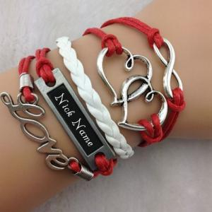 Personalized Heart to Heart Bracelet With Name