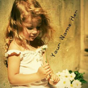 Innocent Little Girl With Name