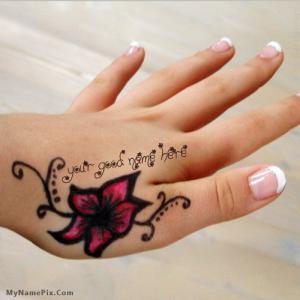 Mehndi Name Hand With Name