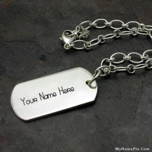 Personalized Military Tag Bracelet With Name