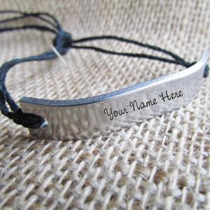Personalized Silver Personalized Bracelet With Name
