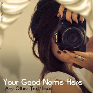 Photographer Girl With Name