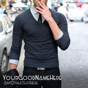 Stylish Guy Smoking With Name