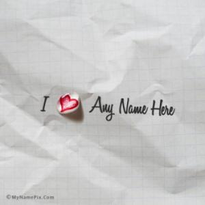 Write Name on Water Drop Heart Paper Note