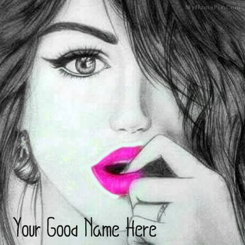 Beautiful Girl Sketch With Name