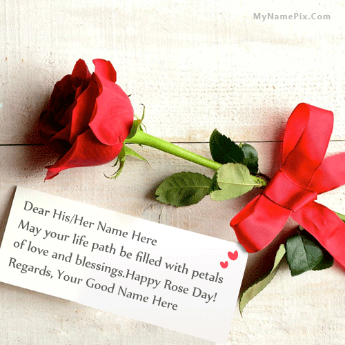 Best Rose Day Greeting With Name