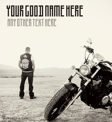 Bike Dude With Name