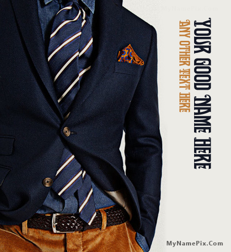 Classy Men Style With Name