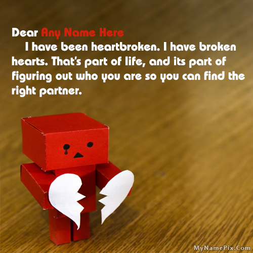 Danbo Heartbroken Quotes With Name
