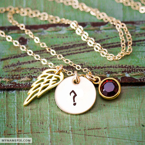 Personalized Golden Wing Initial Necklace