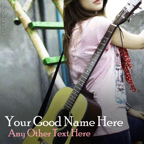 Guitar Girl With Name