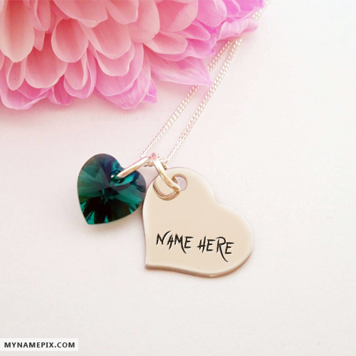 Write Your Nick Name on Heart Pendant