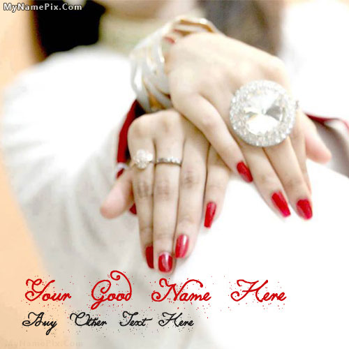 Beautiful Girl Hands With Name