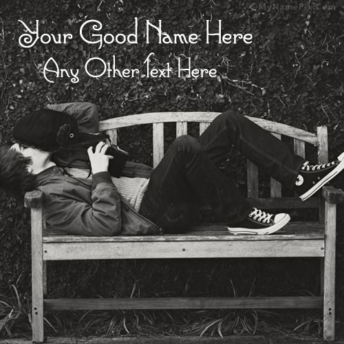 Boy Waiting With Name