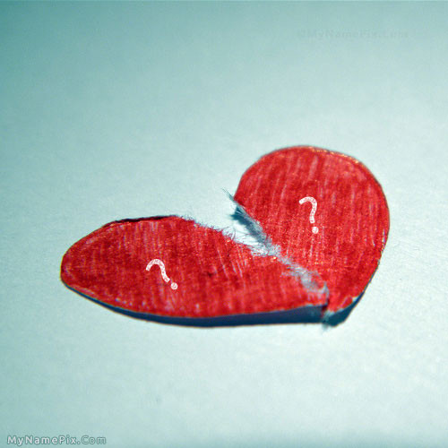 Broken Heart With Name