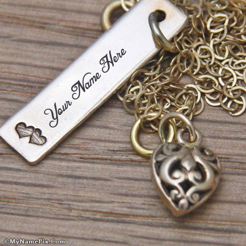 Personalized Bronze Tag Necklace With Name