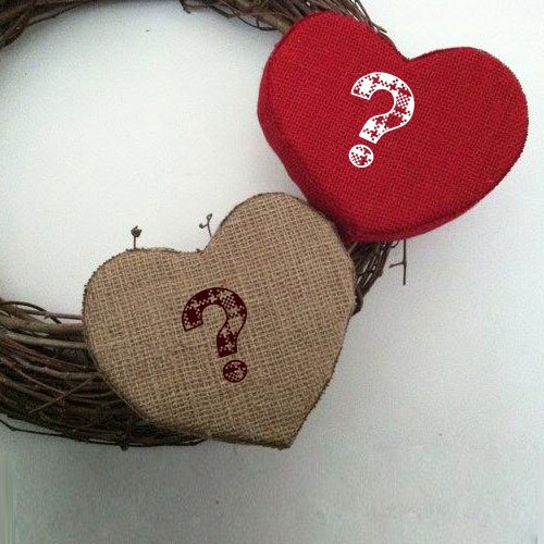 Fabric Hearts With Name