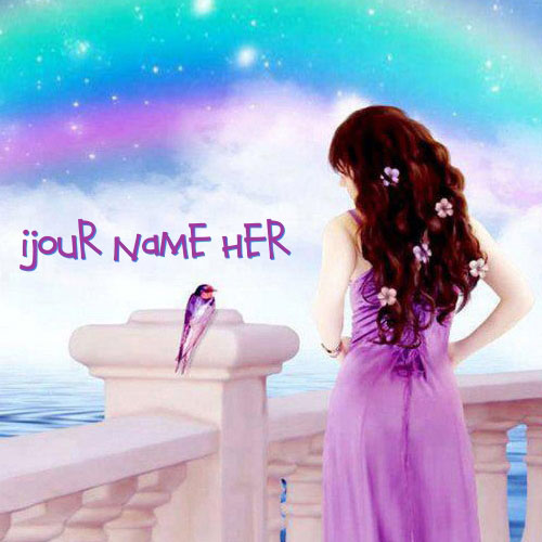 Fantasy Girl Colorful With Name