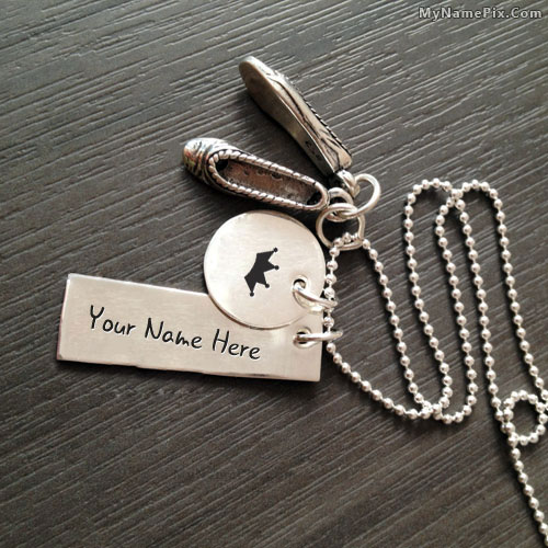 Personalized Girly Shoe Necklace With Name