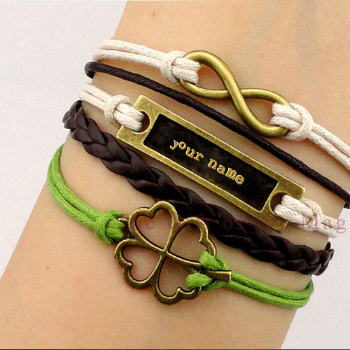 Personalized Golden Charm Bracelets With Name