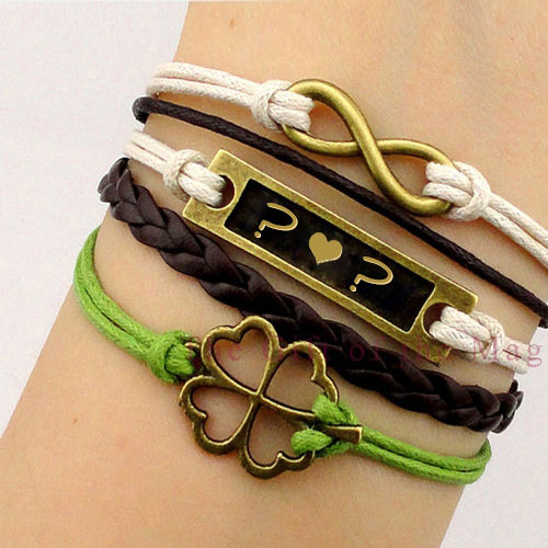 Golden Charm Initial Bracelets With Name