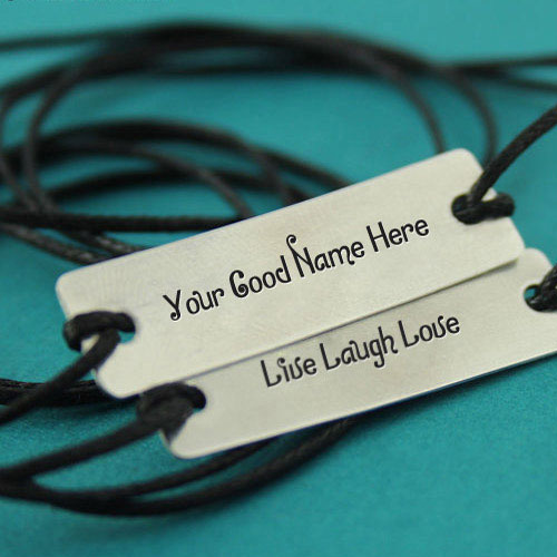 Personalized Live Laugh Love Silver Bracelet With Name