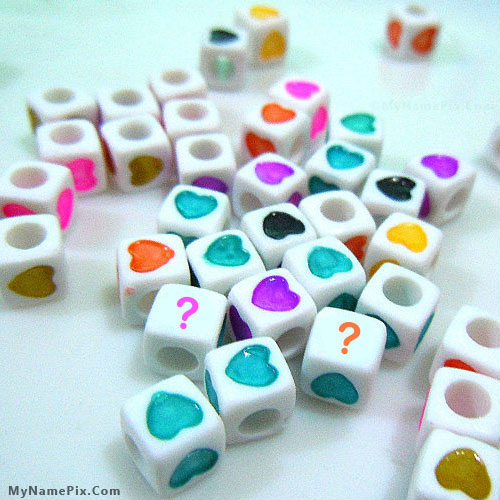 Love Heart Dice With Name