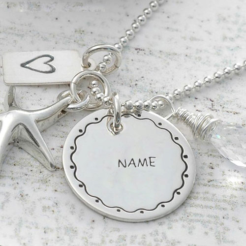 Personalized Nick Name Silver Pendant With Name