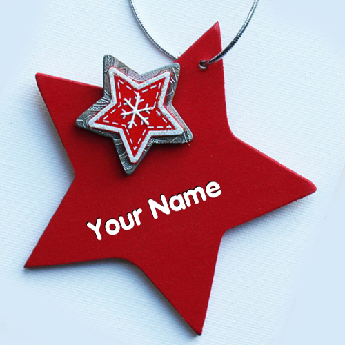 Red Star With Name