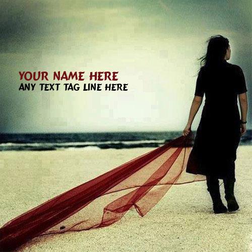 Sad Alone Girl With Name