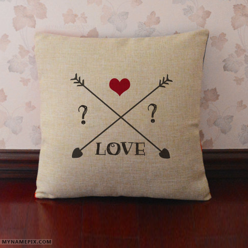 Love Pillows With Name Initials For Couple