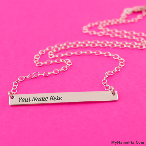 Personalized Simple Bar Necklace With Name